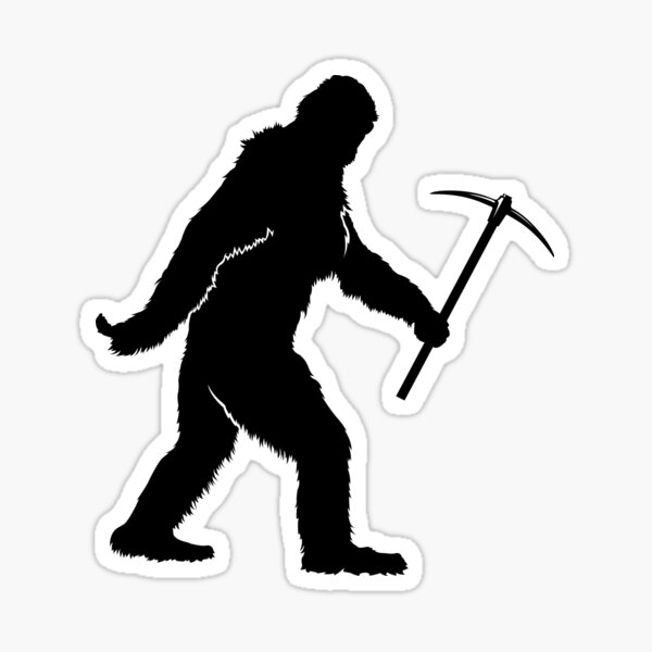 Bigfoot Rockhound Sticker