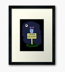 A Dark Night Framed Print