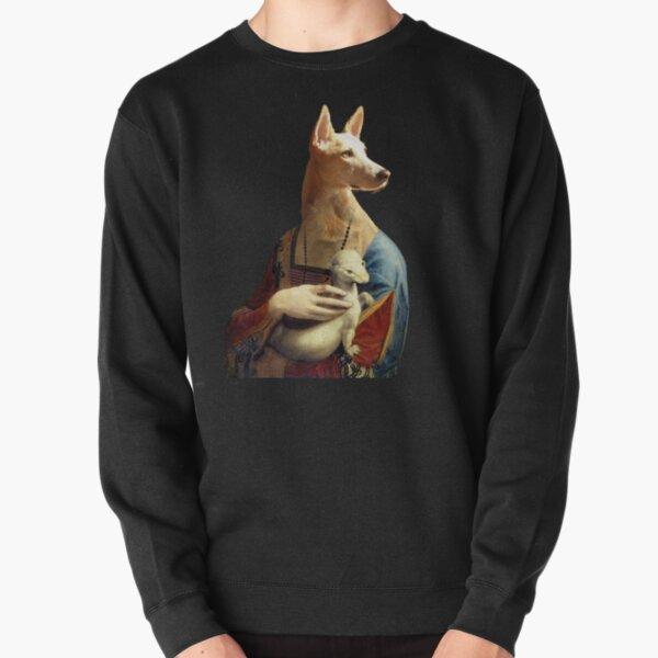 Lady with an Ermine, Luna Version   Pullover Sweatshirt
