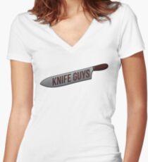 KNIFE GUYS Women's Fitted V-Neck T-Shirt