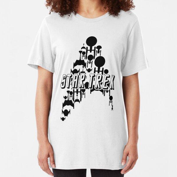 Starship Trek (Black Variant) Slim Fit T-Shirt
