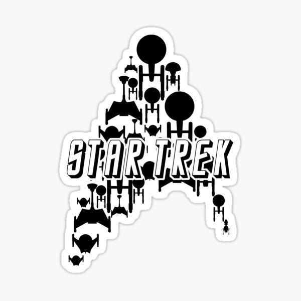 Starship Trek (variante noire) Sticker