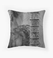 Defensive Spike Tree Throw Pillow