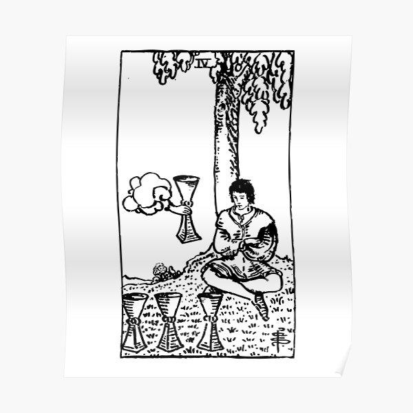 Sci-Fi 4 of Cups Tarot Print