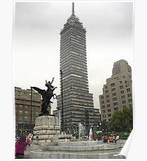 La Torre Latinoamericana desde Bellas Artes Poster