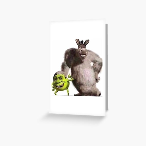 Shrek and Donkey X Monsters Inc. Greeting Card