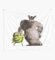 Shrek and Donkey X Monsters Inc. Tapestry