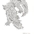 Original dragon doodle by Becpuss