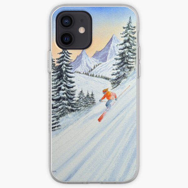 Skiing - The Clear Lady Leader iPhone Soft Case