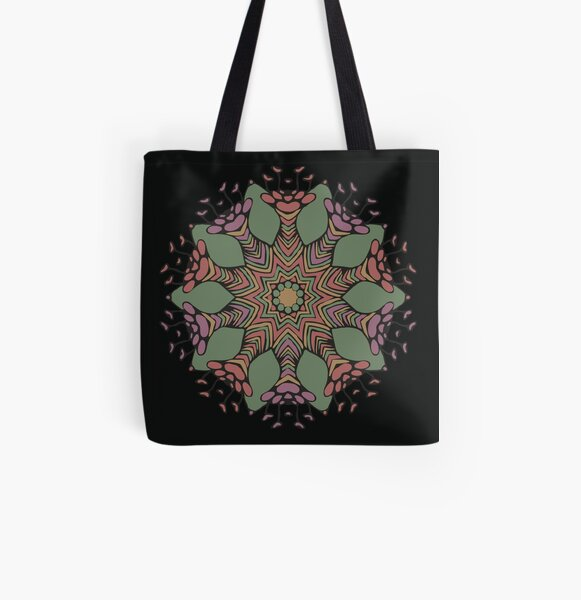 Abstract Flowerhead 4 All Over Print Tote Bag