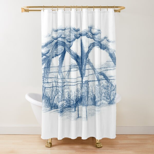 Stranger Monster Drawing (Blue) Shower Curtain