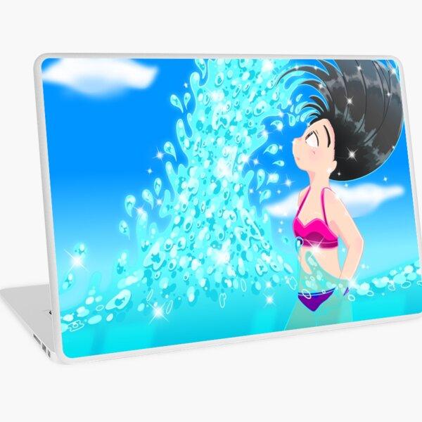 Beach Splash Laptop Skin