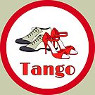 Red Tango Shoes in Red Circle by infinitetango