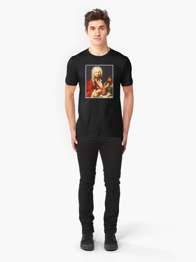 Alternate view of Antonio Vivaldi - Great Baroque Composer Slim Fit T-Shirt