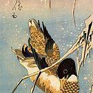 Wildente von Utagawa Hiroshige (Reproduktion) von RozAbellera