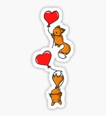 Playful Foxes Sticker