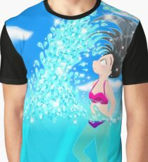 Beach Splash Graphic T-Shirt