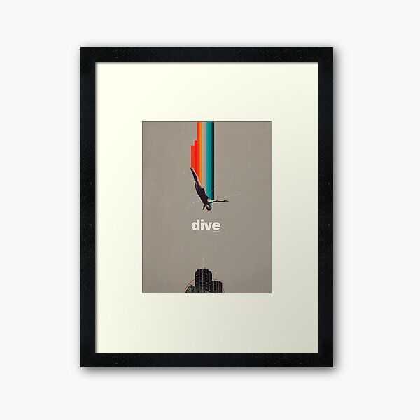 Dive Into My Soul Framed Art Print