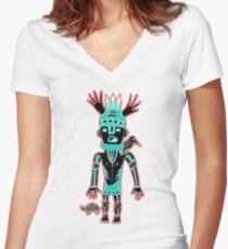 KIDchina crow Women's Fitted V-Neck T-Shirt
