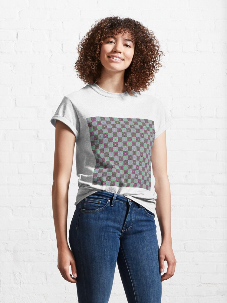 Alternate view of #Scrapbook, #design, #pattern, #repetition, abstract, illustration, square, color image, geometric shape, retro style Classic T-Shirt