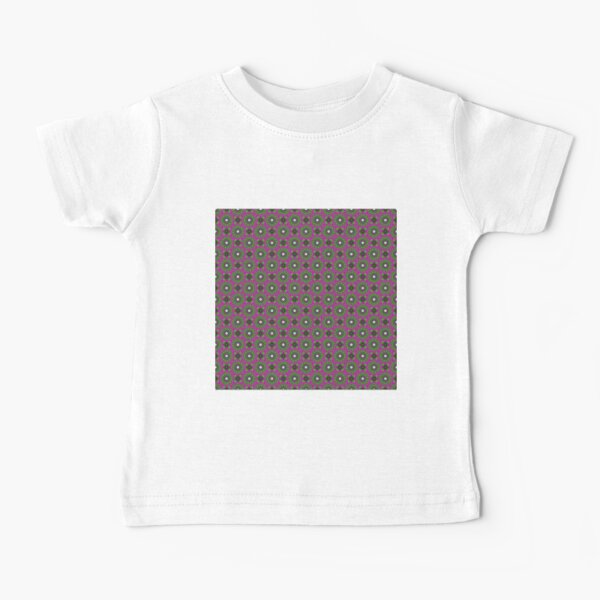 #Scrapbook, #design, #pattern, #repetition, abstract, illustration, square, color image, geometric shape, retro style Baby T-Shirt