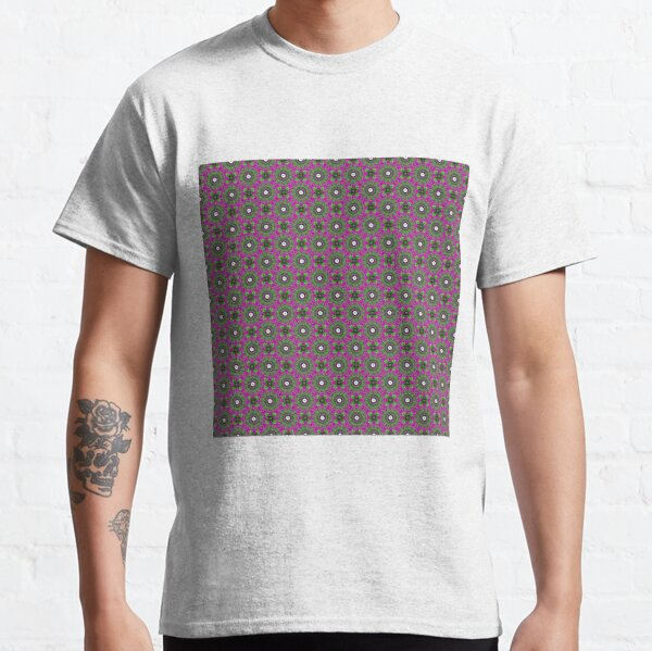 #Scrapbook, #design, #pattern, #repetition, abstract, illustration, square, color image, geometric shape, retro style Classic T-Shirt