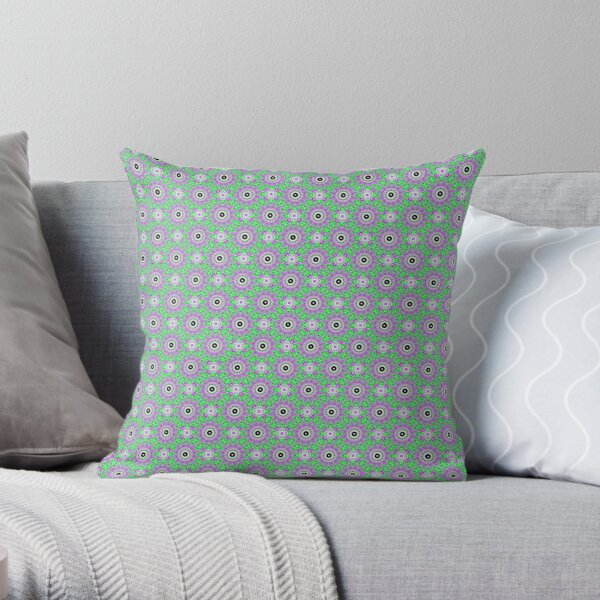 #Scrapbook, #design, #pattern, #repetition, abstract, illustration, square, color image, geometric shape, retro style Throw Pillow
