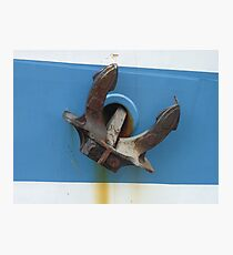 Anchor of sail training ship STS Mir  Photographic Print