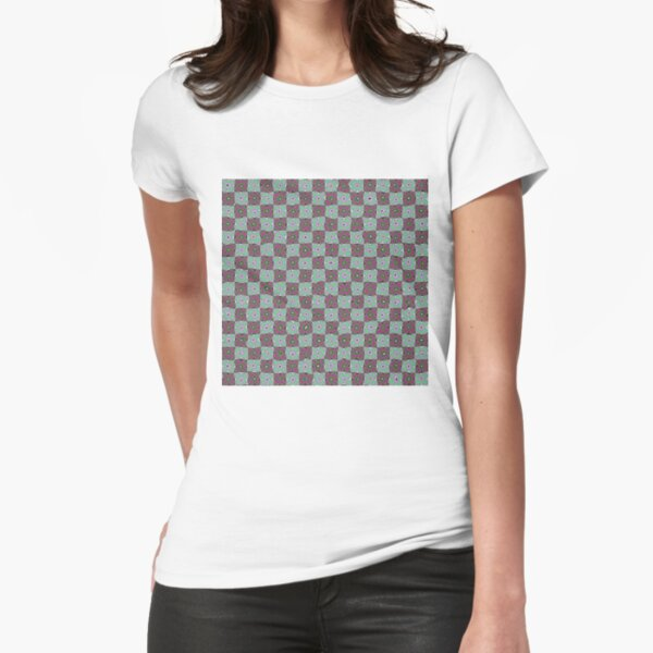 Op art - art movement, short for optical art, is a style of visual art that uses optical illusions Fitted T-Shirt