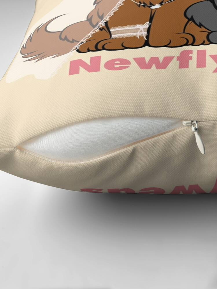 Alternate view of Newflyweds Throw Pillow