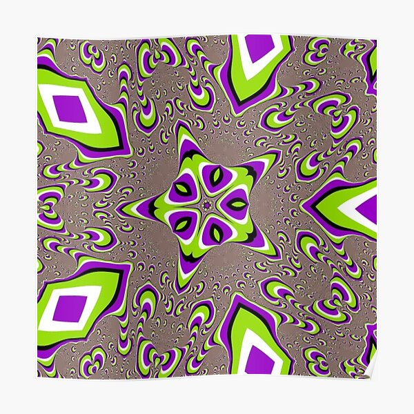 Op art - art movement, short for optical art, is a style of visual art that uses optical illusions Poster