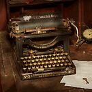 Typewriter - My bosses office by Michael Savad