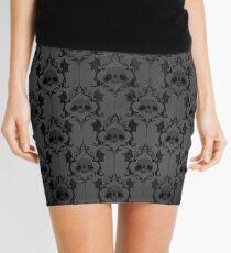 Halloween Damask - Grey Mini Skirt