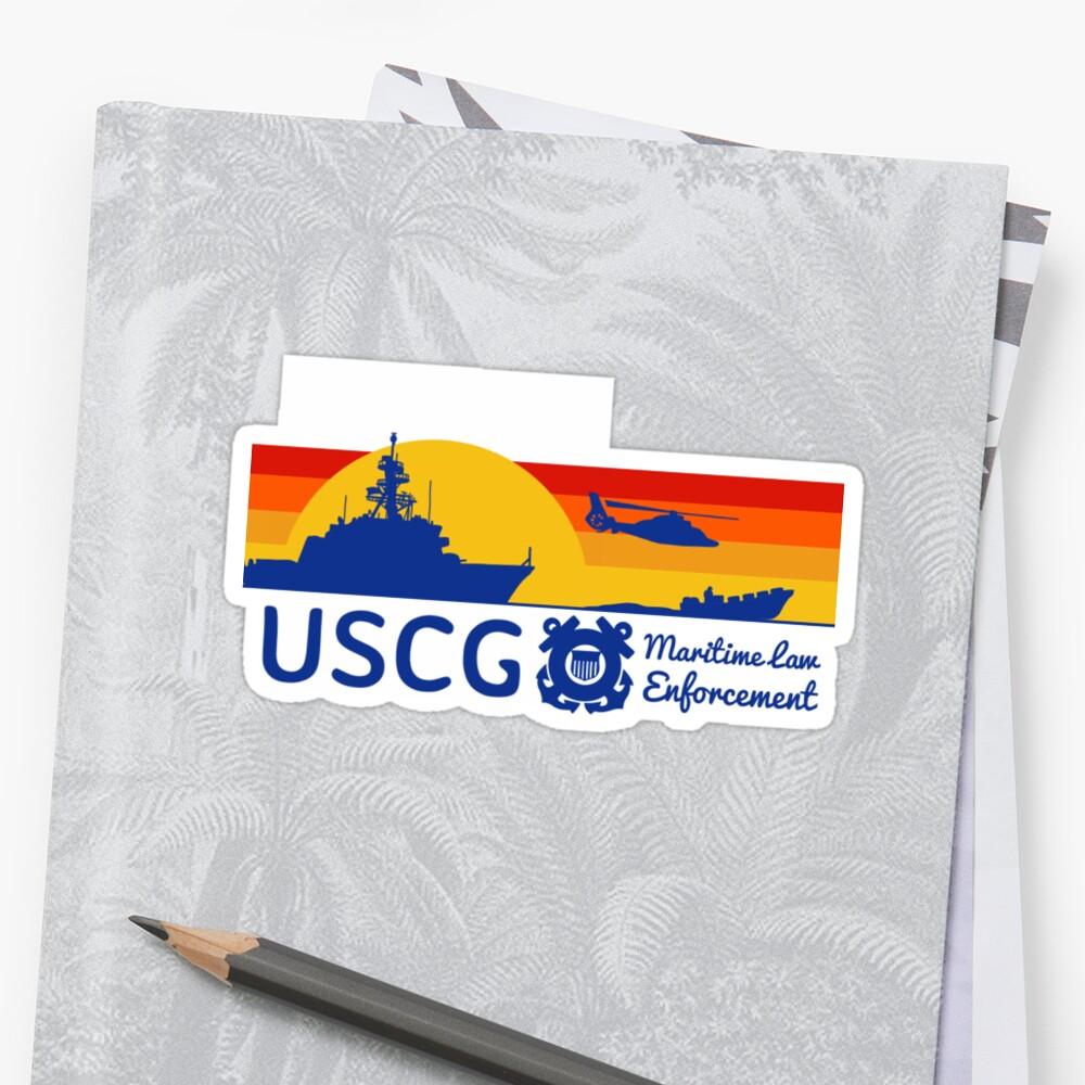 Sunset Maritime Law Enforcement  Sticker