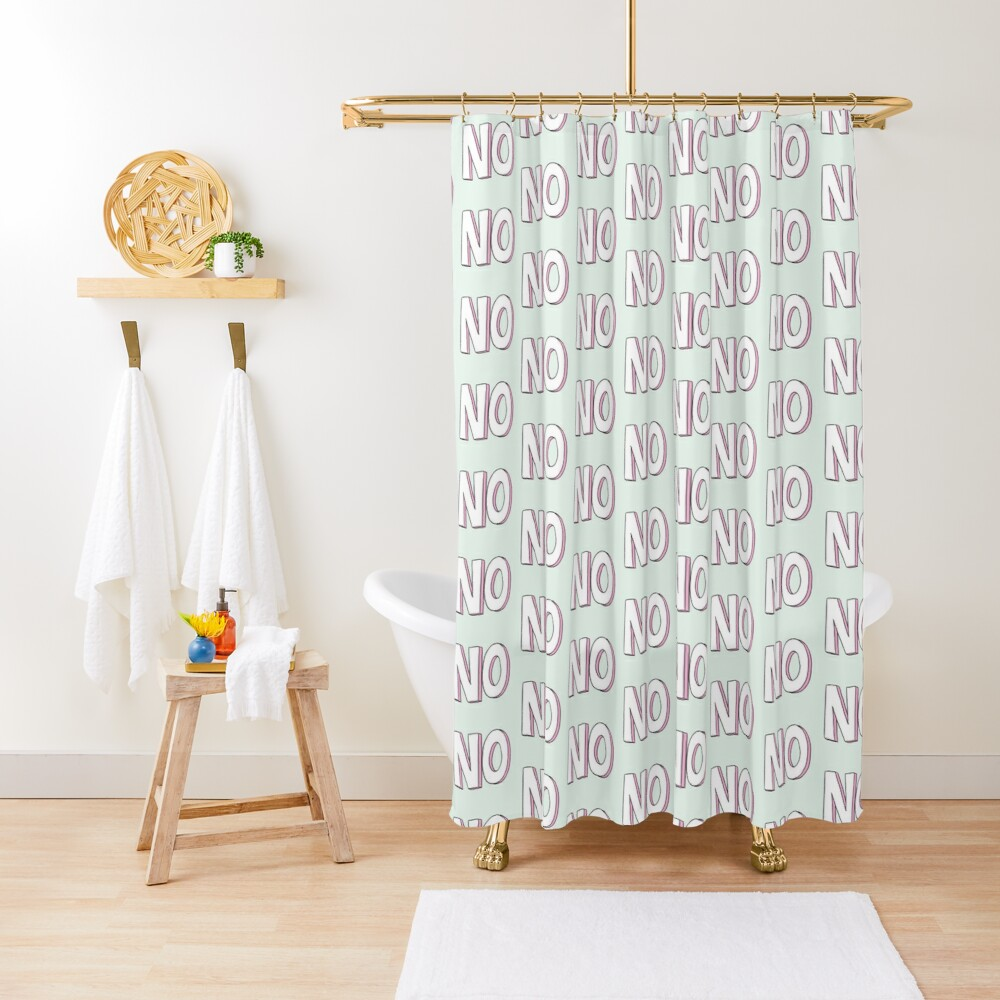 No Shower Curtain