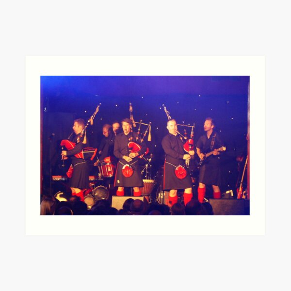 Red Hot Chilli Pipers Art Print