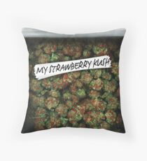 WEED BAG strawberry kush Throw Pillow