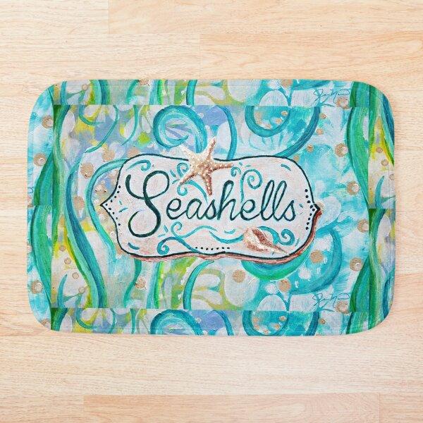 Seashells III by Jan Marvin Bath Mat