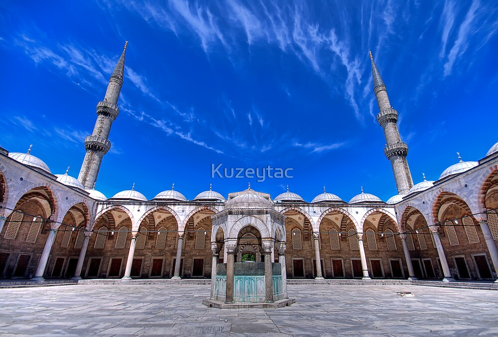 The Blue Mosque (HDR) by Kuzeytac