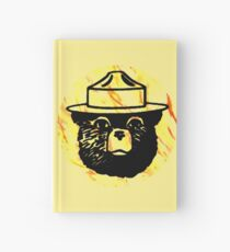 Smokey mit Feuer Hintergrund Notizbuch