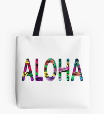 Aloha Hawaiian Greeting Flowers Love Affection Peace Tote Bag