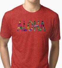Aloha Hawaiian Greeting Flowers Love Affection Peace Tri-blend T-Shirt