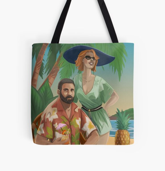 Wish You Were Here All Over Print Tote Bag