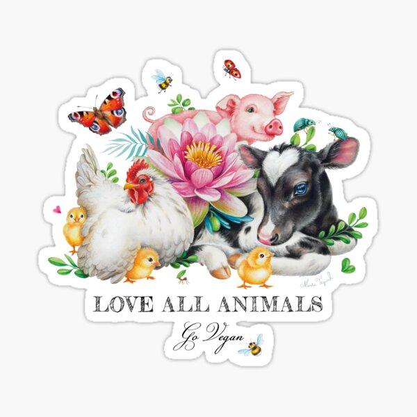 Vegan summer by Maria Tiqwah Sticker