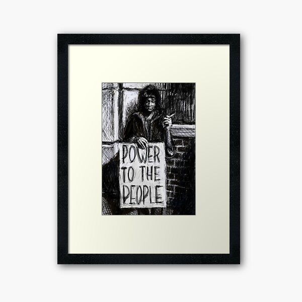 Marsha P. Johnson -- Power To The People Framed Art Print