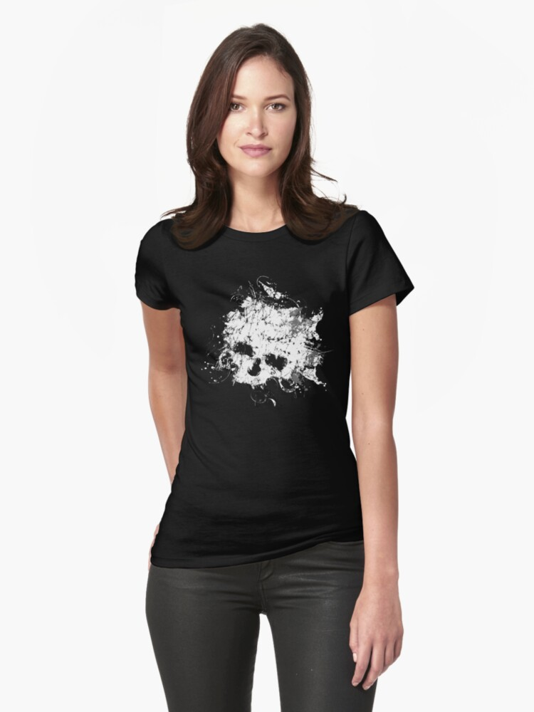 Splat Skull t shirt by iEric