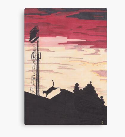 Pittodrie Stadium, Aberdeen Canvas Print