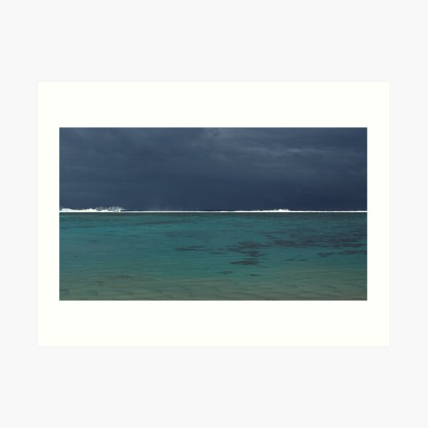 Between calm and storm Art Print