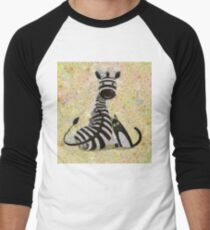 ZEBRA WITH CAT Men's Baseball ¾ T-Shirt