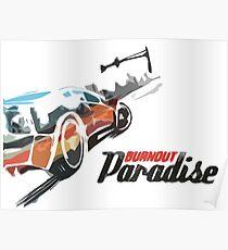 Burnout Paradise Watercolour Poster